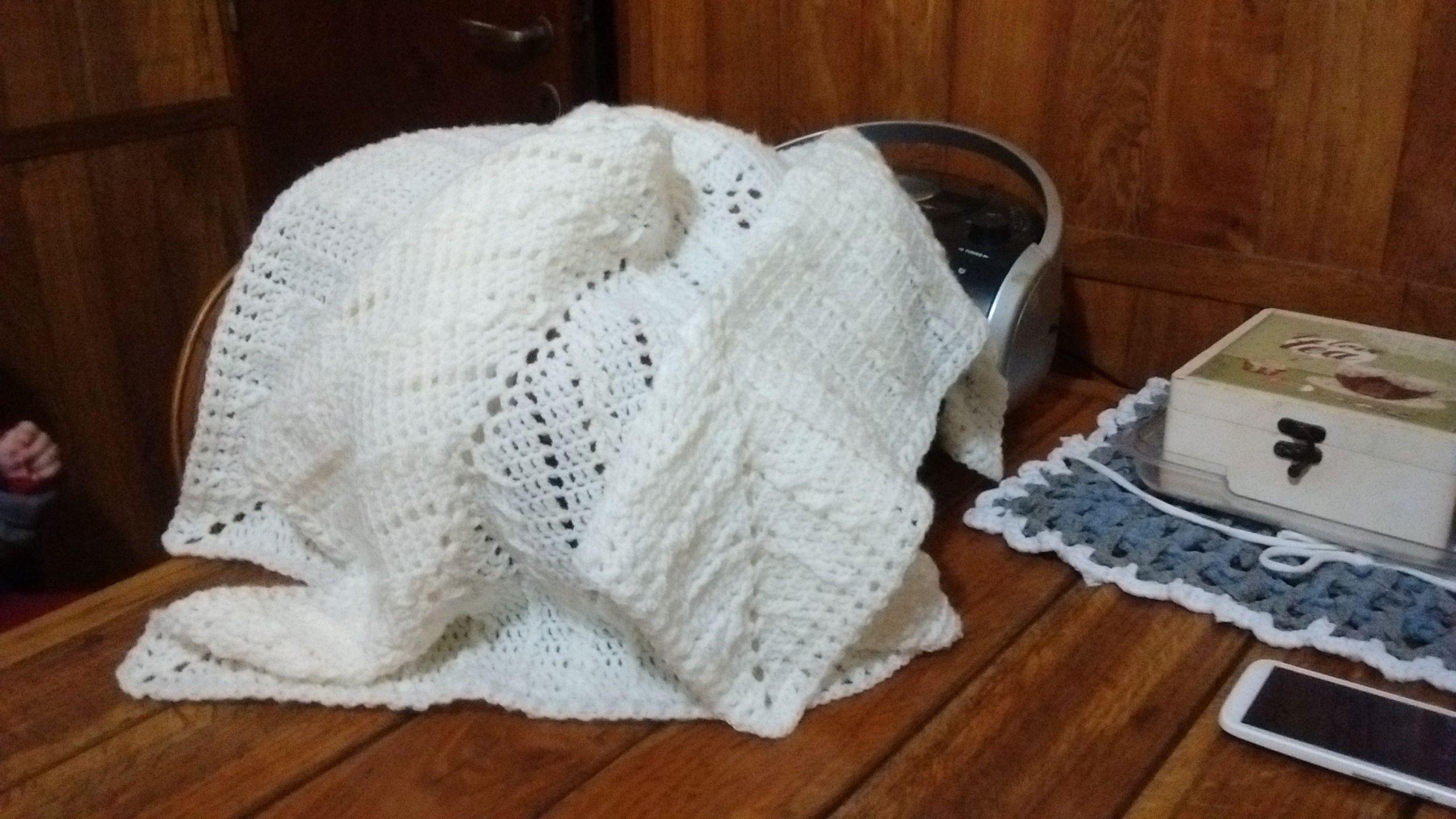 Nube 2/7, crochet n° 4. Mantilla para Lucas. | CROCHET (Lo que voy ...