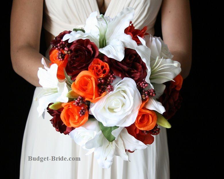 Fall Leaf Cheap Wedding Flower Package