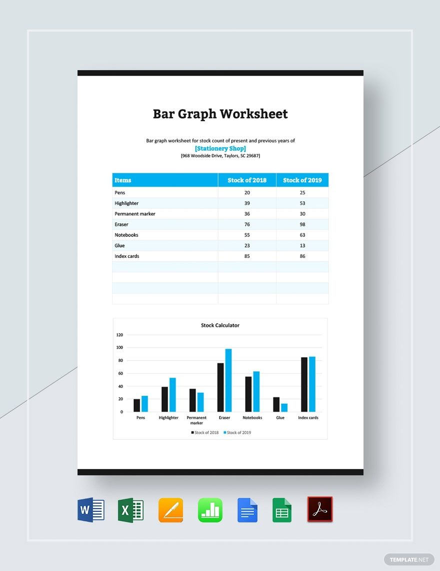 Bar Graph Worksheet Template Ad Paid Graph Bar Template Worksheet In 2020 Bar Graphs Worksheet Template Graphing