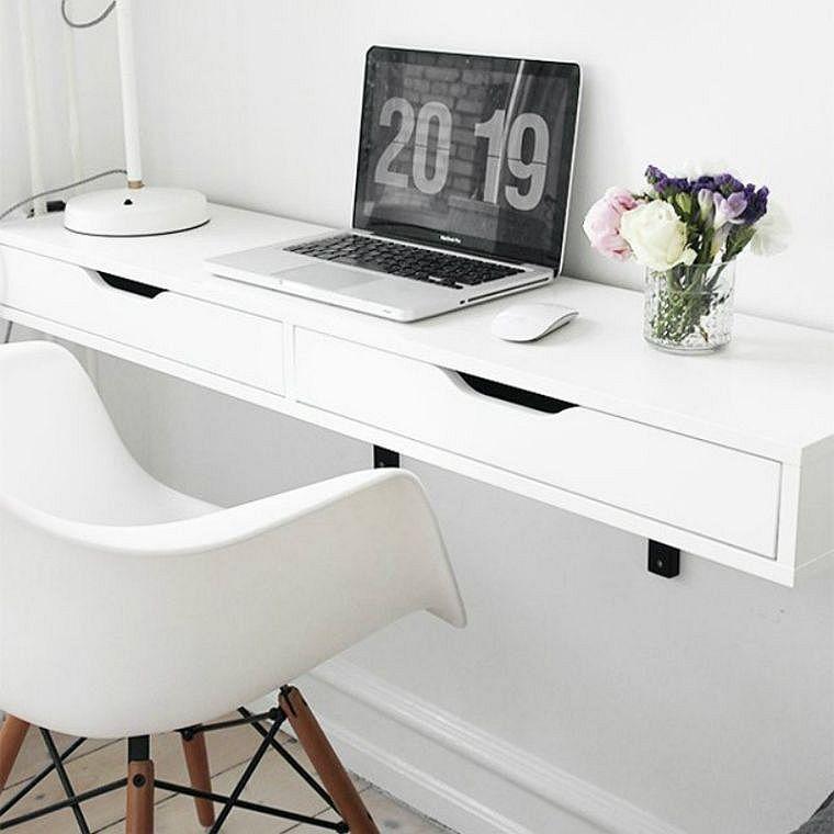 Le bureau mural, un meuble qui prend peu de place mais qui remporte - meuble de rangement avec tiroir