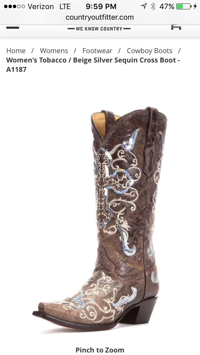 b3363bb68a2 Cute boots from country outfitter! | Dream gifts | Womens cowgirl ...