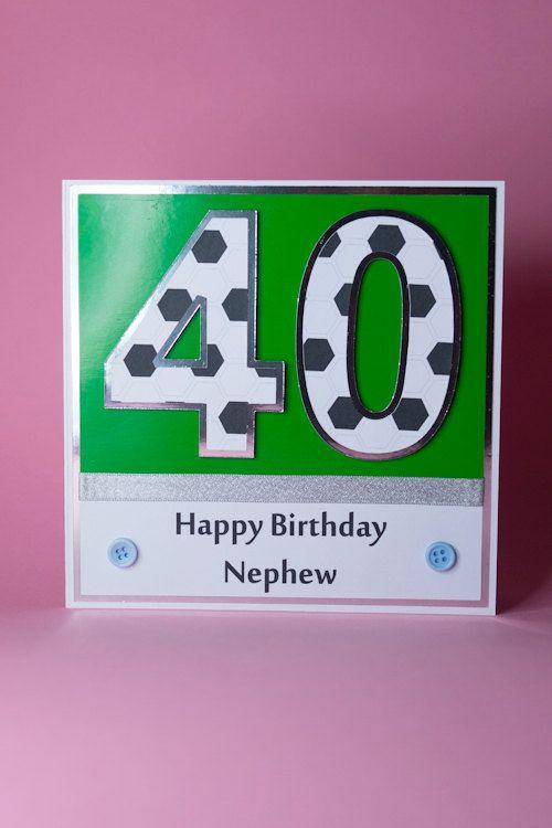 Handmade Football Age Birthday Card Male Birthday Card Etsy Birthday Cards For Men 40th Birthday Cards Cards