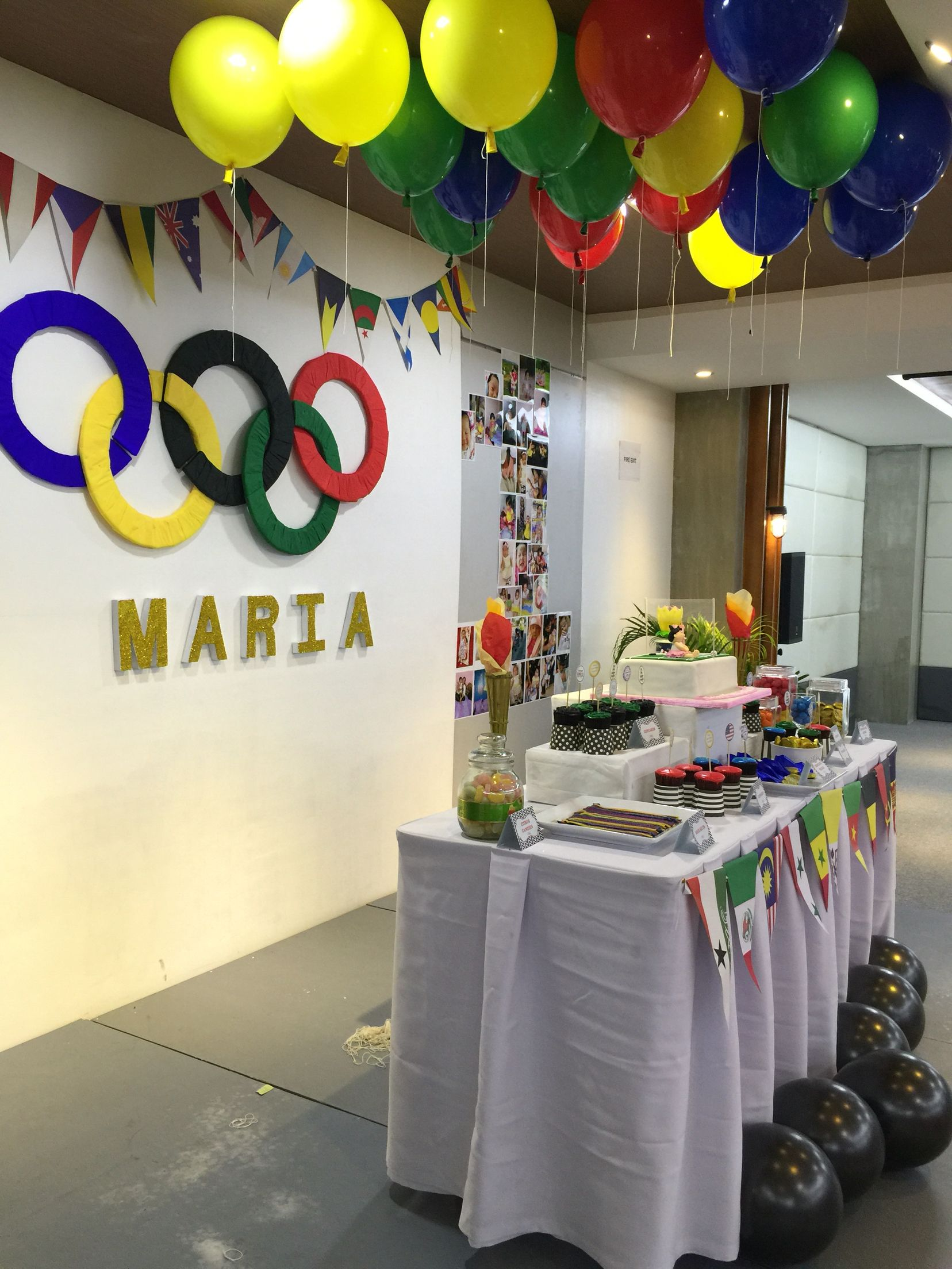 Olympic Themed Party For Maria Antonette S 1st Birthday Party