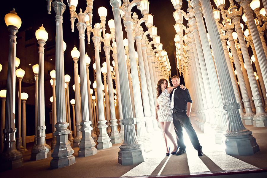lacma engagement photography los angeles wedding