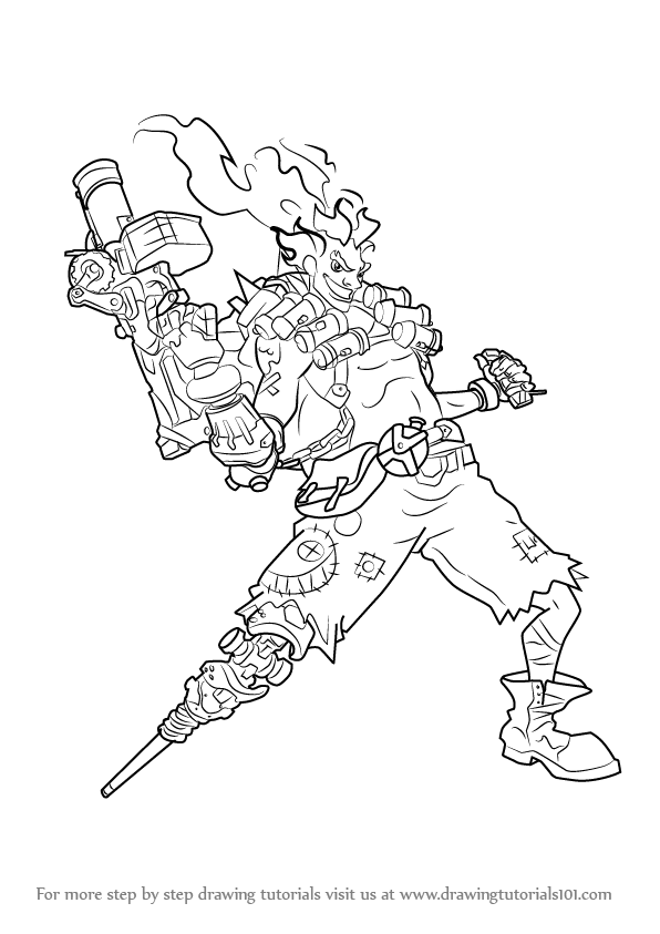Learn How to Draw Junkrat from Overwatch (Overwatch) Step by Step ...