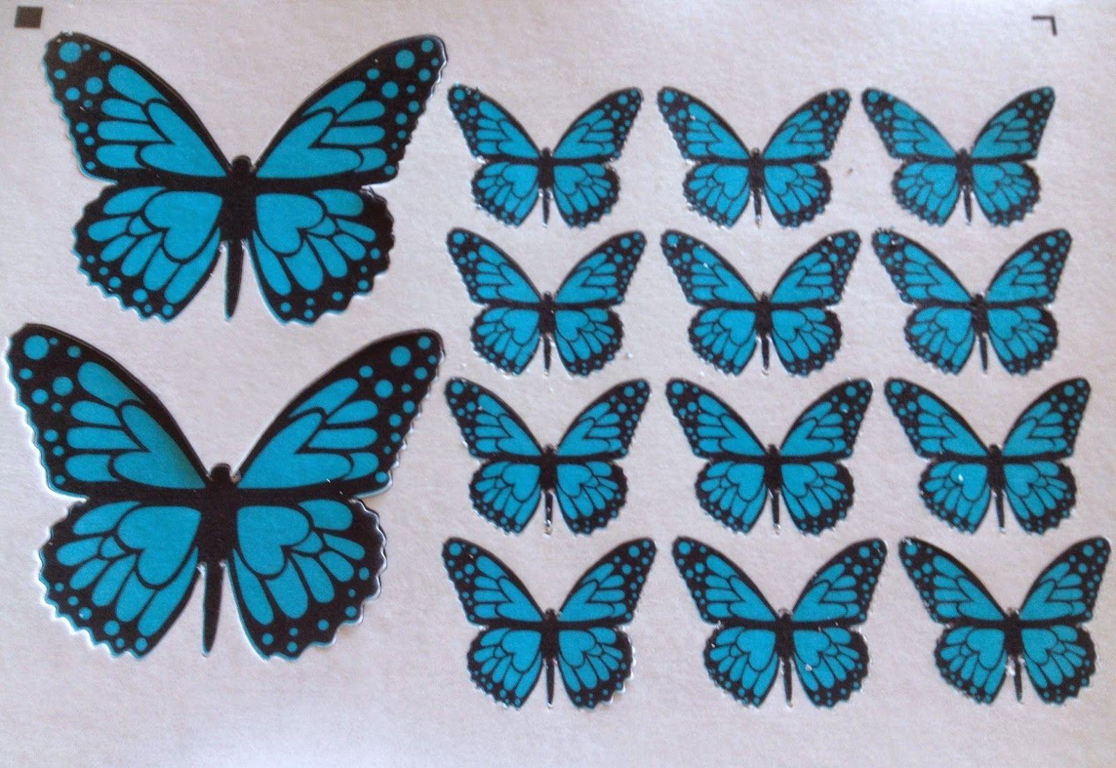 Paso a paso para decorar una tarta con mariposas precortadas en papel de arroz fieltro - Mariposas para decorar ...