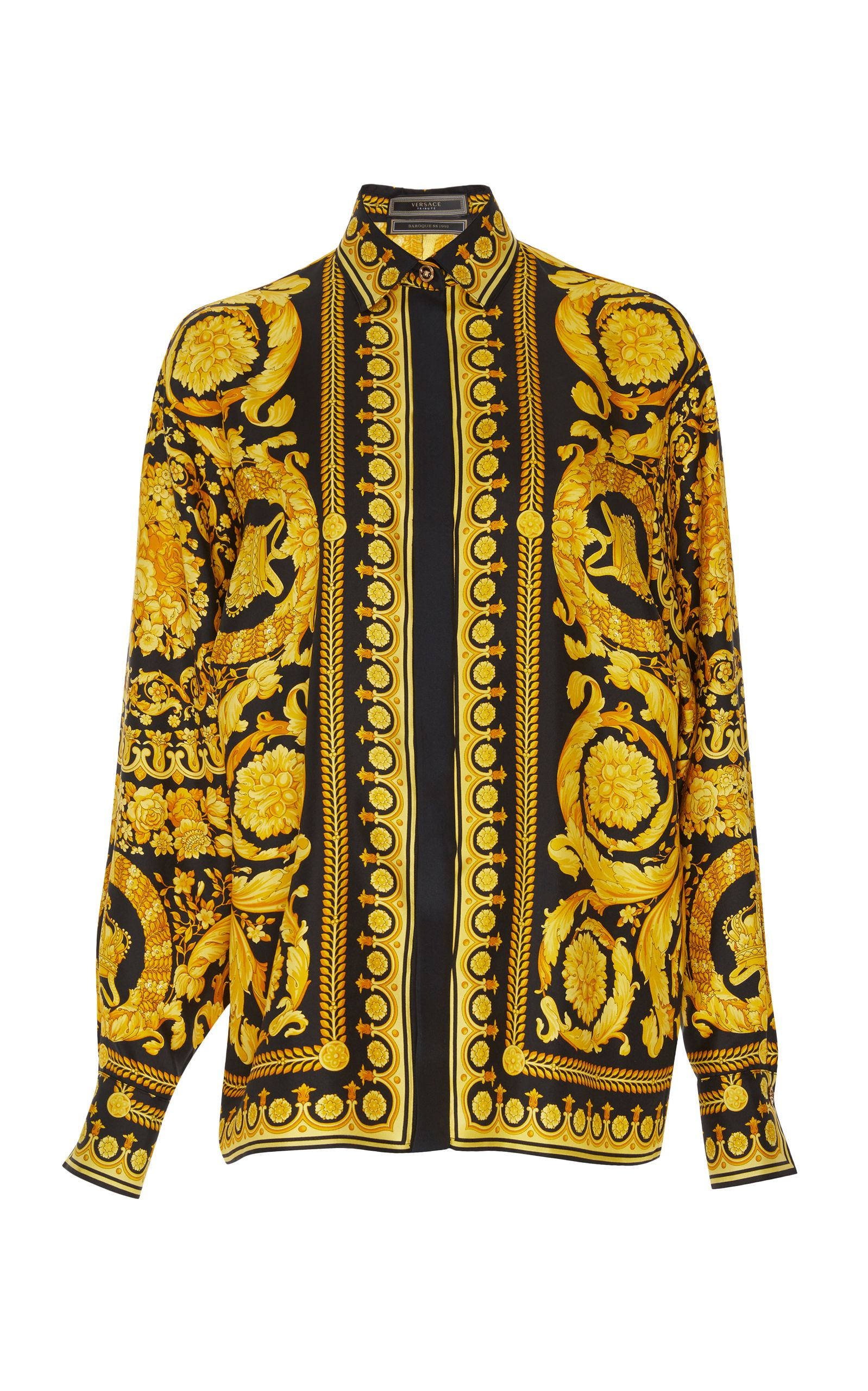 1e45d1ad Versace Spring 2018 Ready-to-Wear Collection Photos (Baroque Print Shirt)