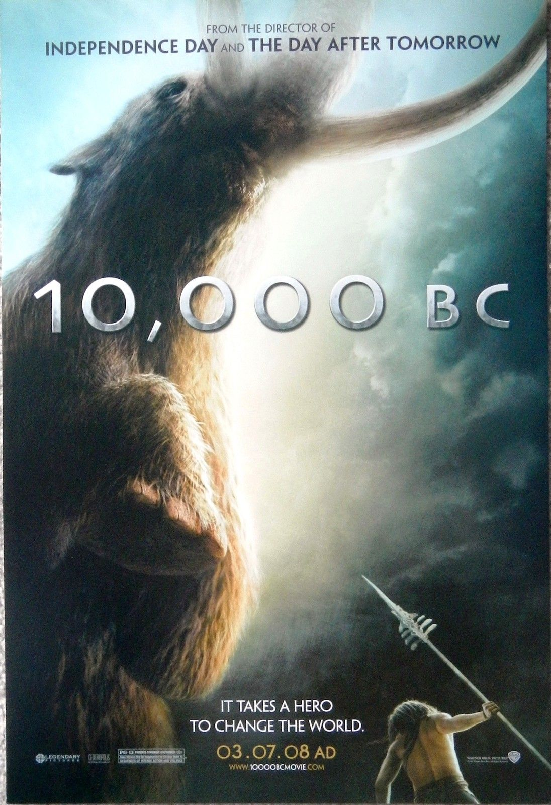 10000 Bc Movie Roland Emmerich Promo Poster Sheet 12 X 17 With
