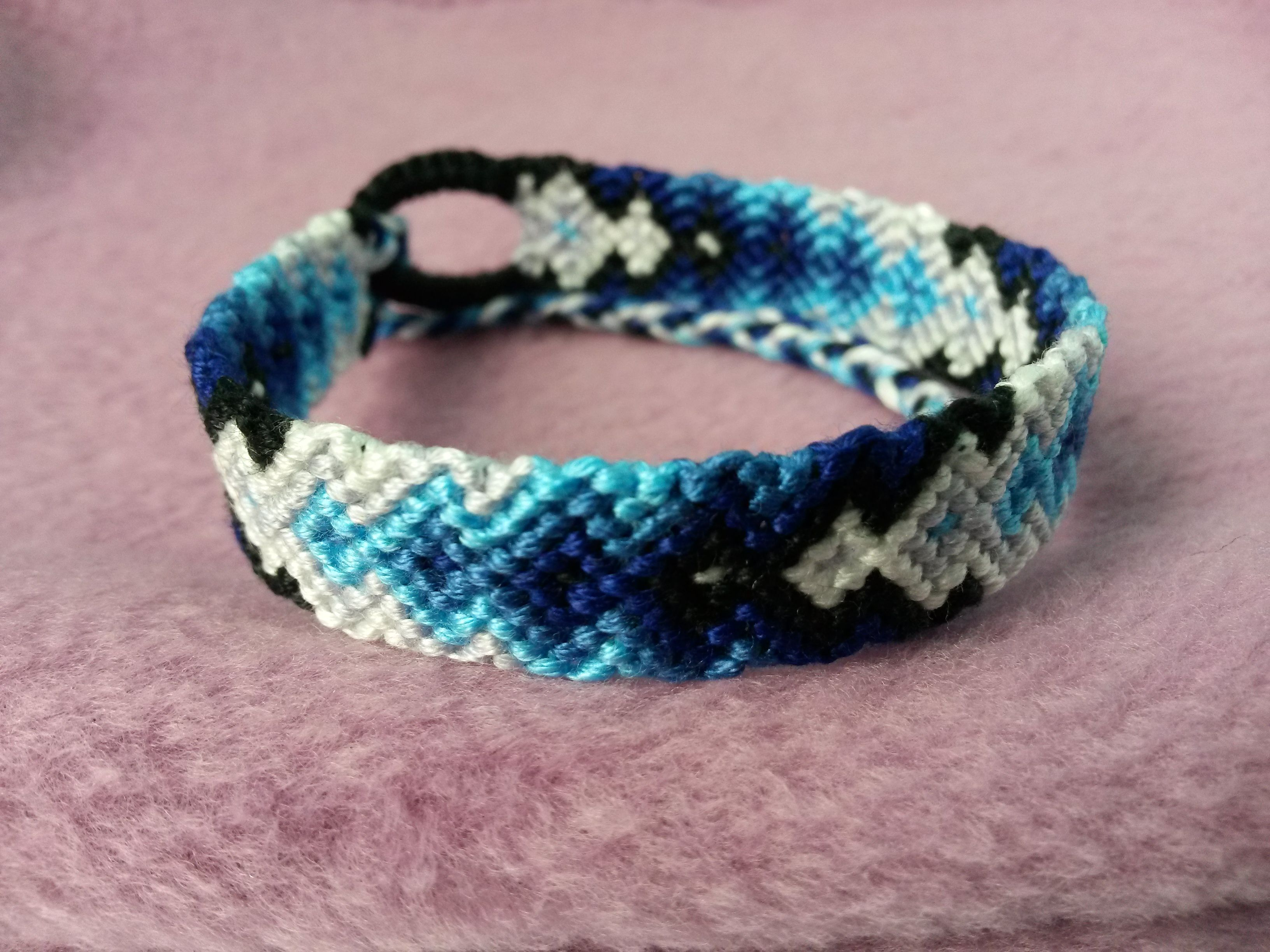 Friendship Bracelet Patterns Blue Grant Arrow Pattern