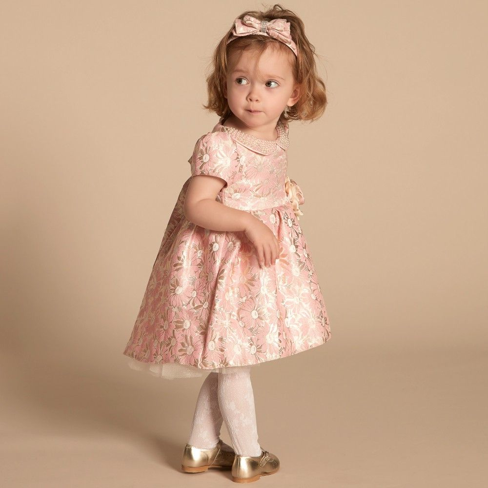 a87d5eb51848 Super cute Romano Princess - Baby Girls Pink Brocade Dress. Perfect party  dress for any special occasion.