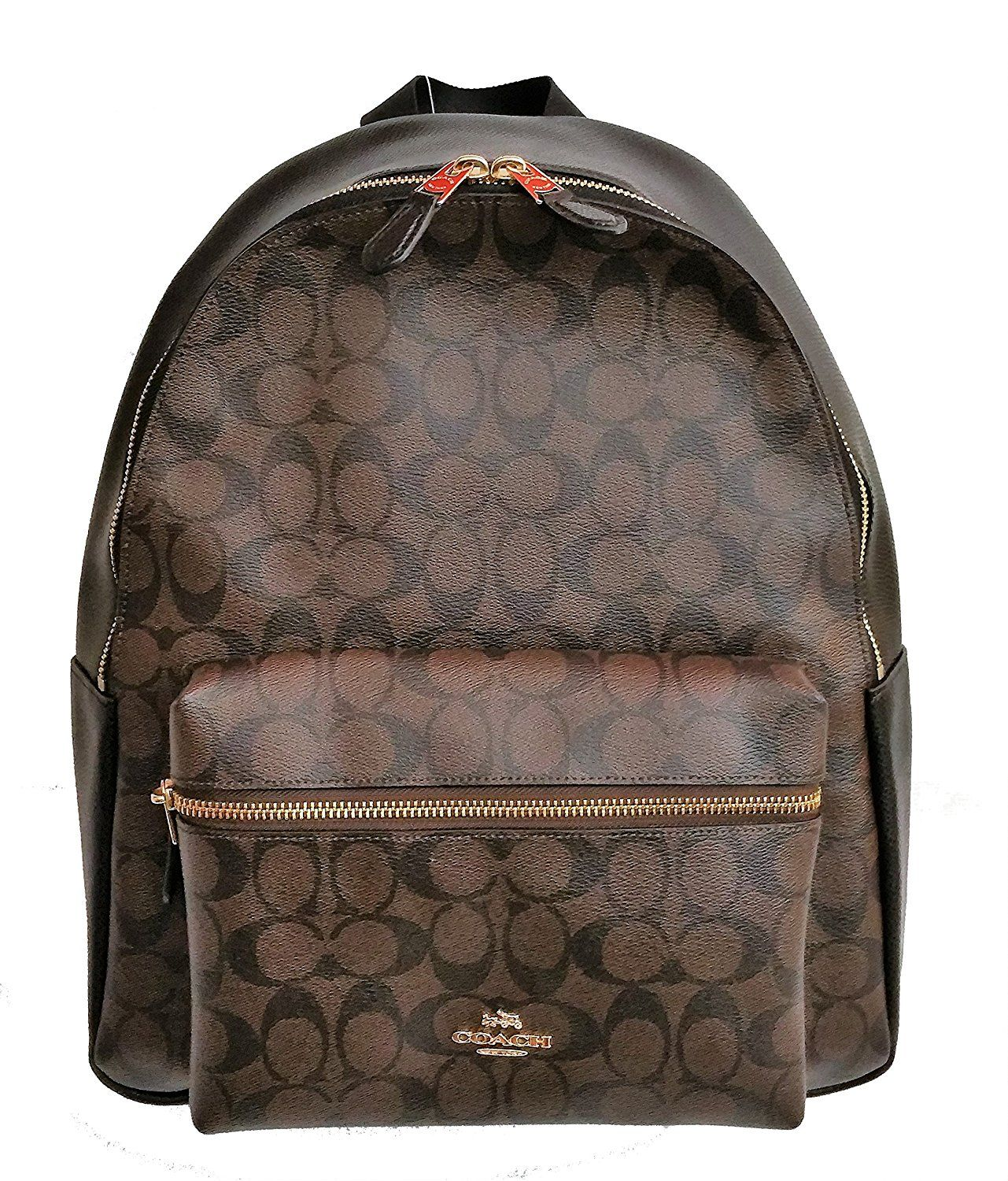 0a5def46335d Coach Charlie Pebble Leather Backpack F38288 (Signature Black Brown) -- You  can find more details by visiting the image link.
