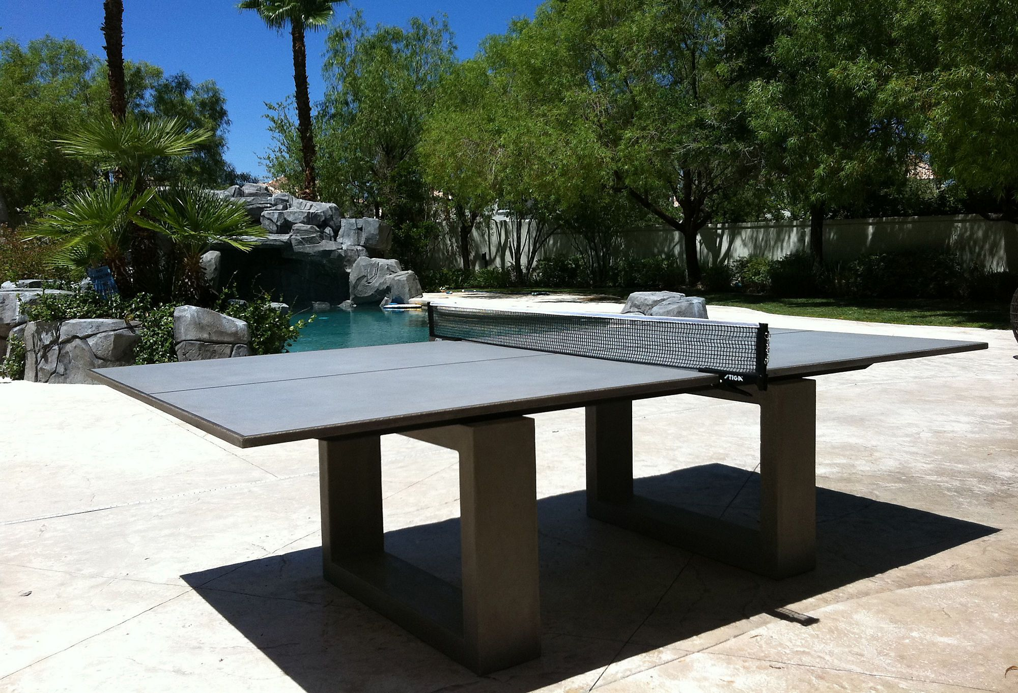 One Kings Lane - Concrete Style - Ping Pong Dining Table, Light Gray