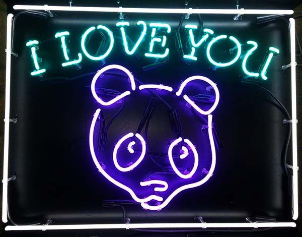 Personalized Neon Signs Fair Iloveyou #panda Personalized #neonsign #neon Httpwwwneonandmore Design Inspiration