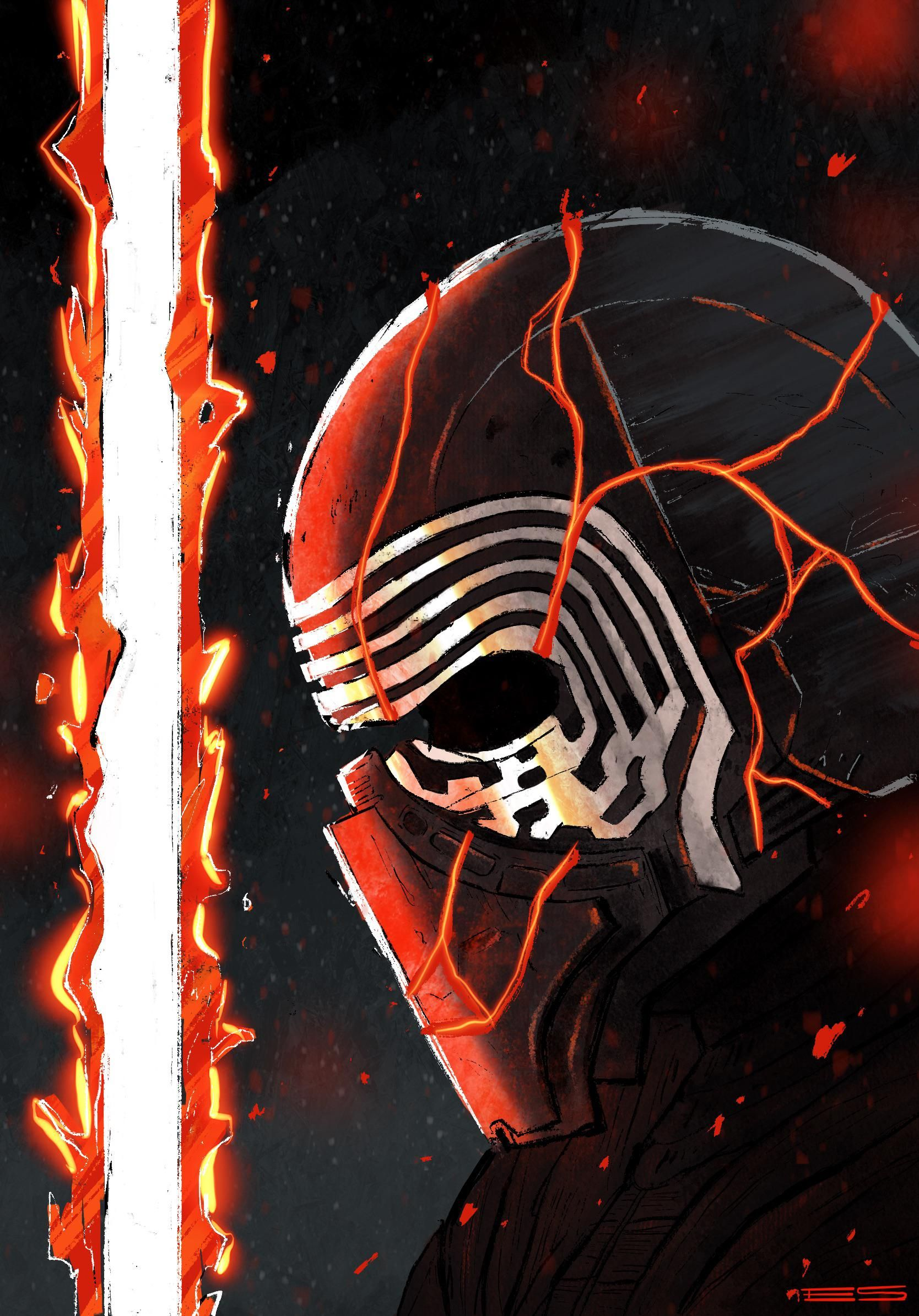Kylo ren fan art that i finished the other nighthttpsi