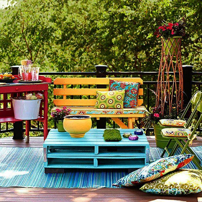 101 Holzpaletten Ideen für Ihr stilvolles Zuhause #smallbalconyfurniture
