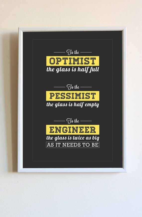 Funny Engineering Glass Is Half Full Quote Saying by ...