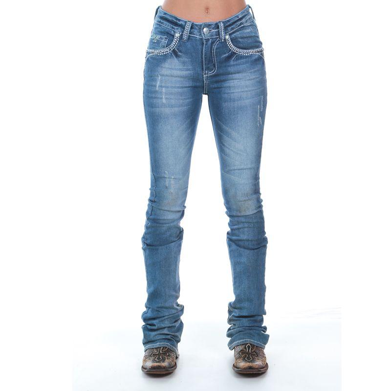 9bc3aa925 Calça Jeans Zenz Western Venezia - Fabricada em tecido 98% Algodão e 2%  Elastano