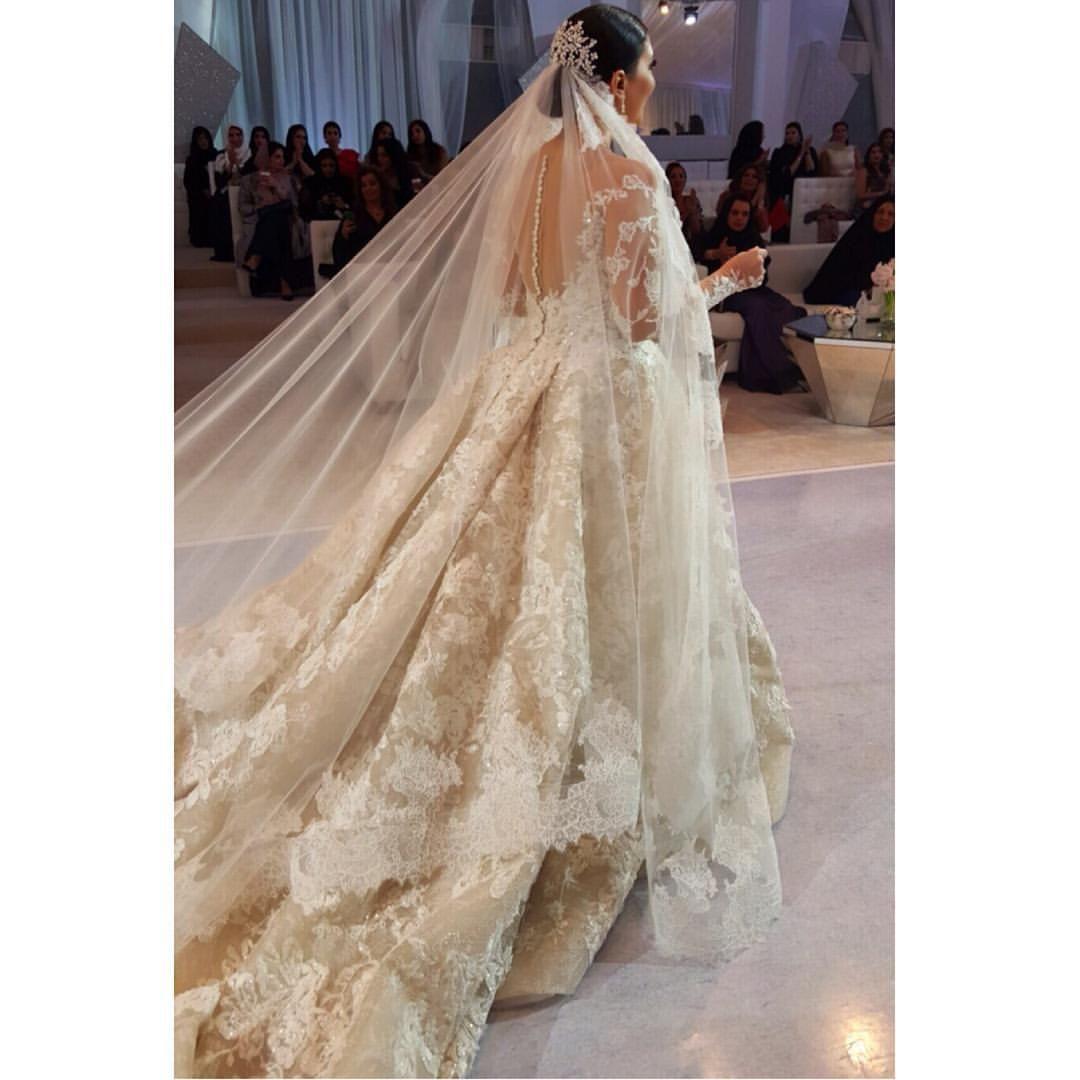 "ATELIER KRIKOR JABOTIAN on Instagram: ""#Throwback to the wedding of the ever-so-radiant Kuwaiti Bride Mrs. Nour Al Nafisi, who wore this custom-made #KrikorJabotian gown."""