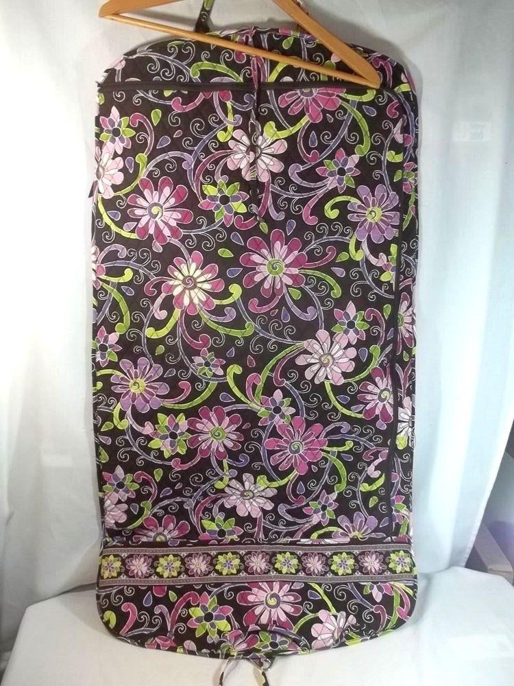 Vera Bradley Garment Travel Wardrobe Bag Purple Punch Retired Pattern   VeraBradley 071642db8b