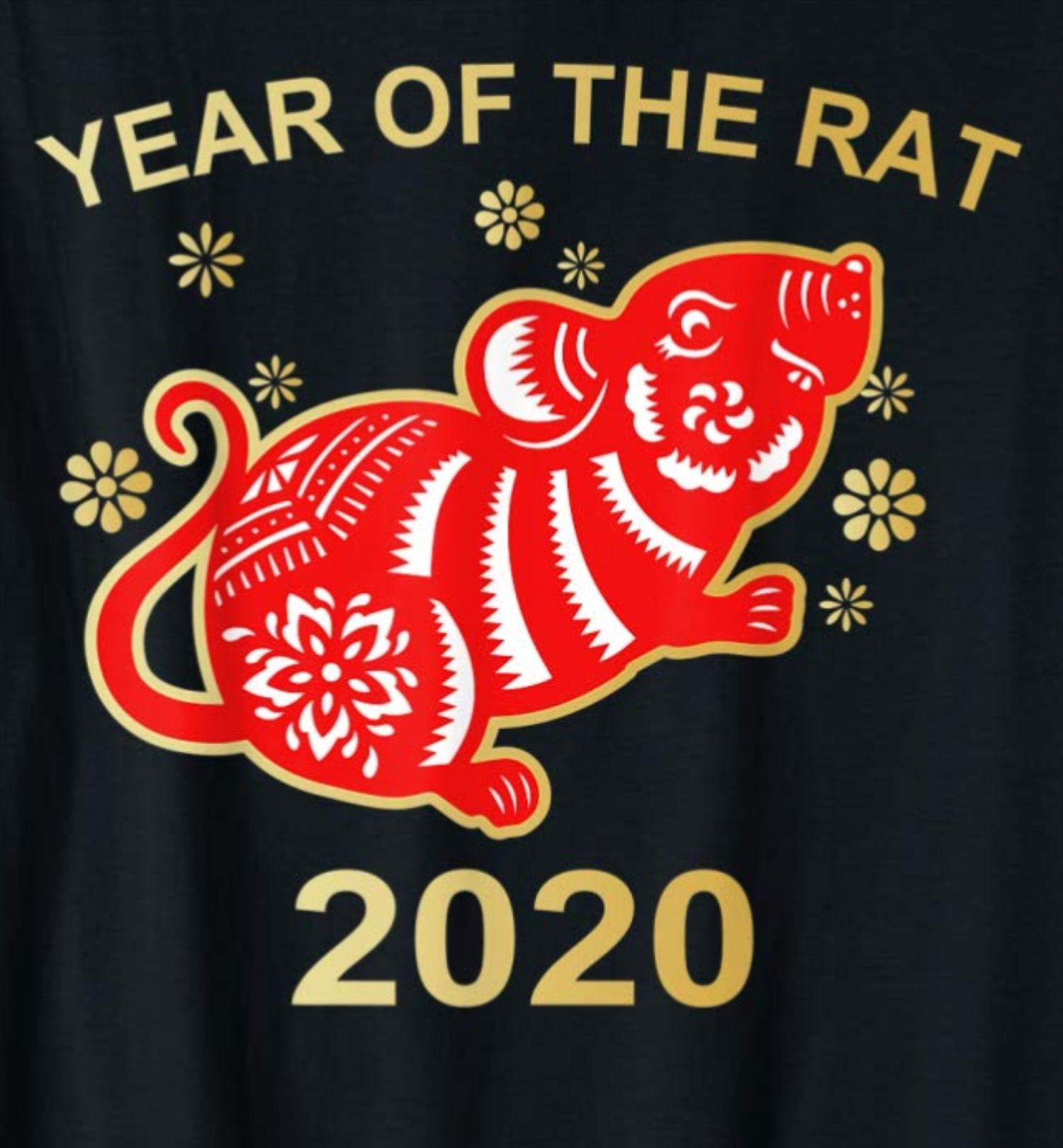 Happy Chinese new year design. 2020 Rat zodiac. Cute mouse