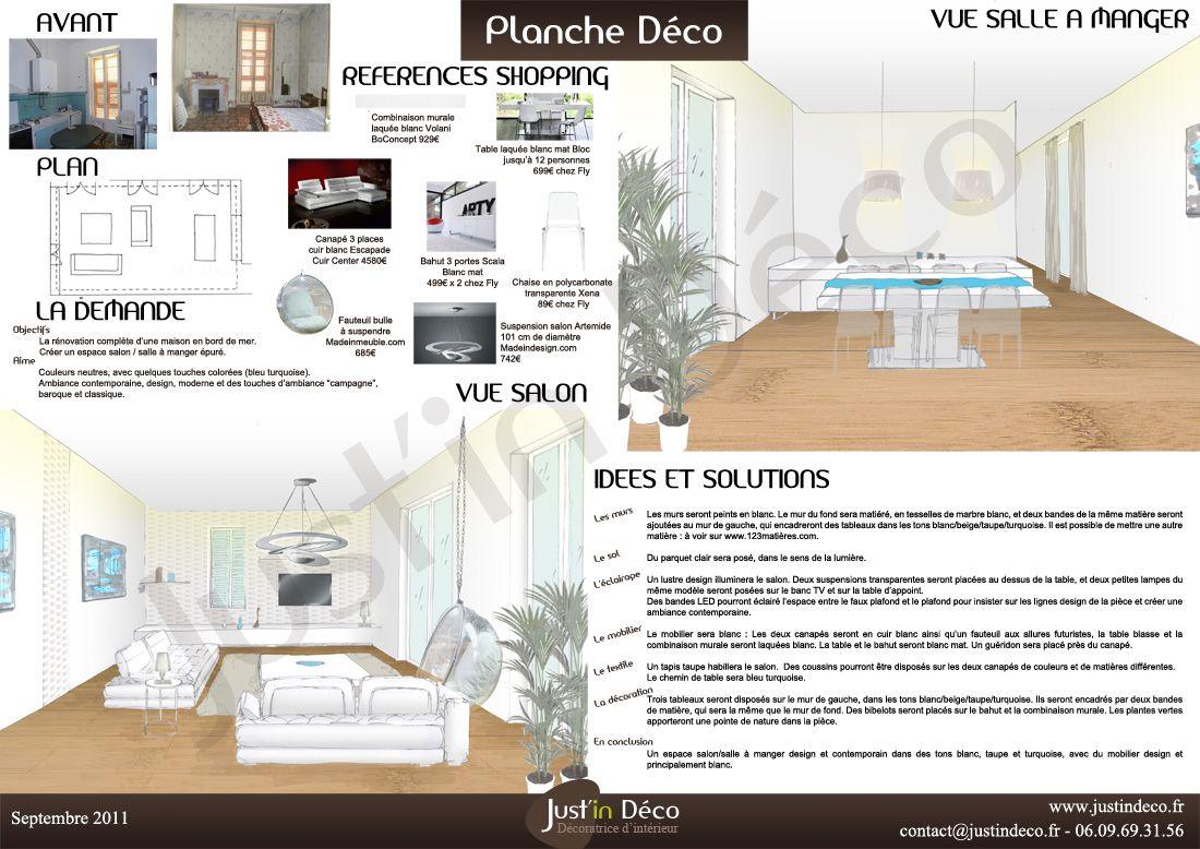 PLANCHE DAMBIANCE CONTEMPORAINE Recherche Google PLANCHES - Canapé 3 places pour formation decoration d interieur