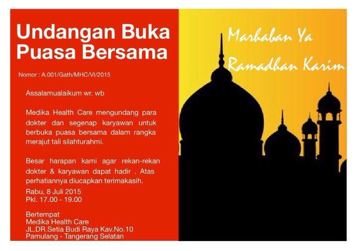 Undangan Buka Puasa Bersama Created By Mellyaseswitadr Invitation