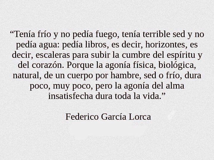 Federico García Lorca Frases Literatura Federico Garcia