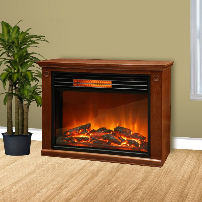 Lifepro By Lifesmart LS2002FRP13 Infrared Fireplace   Brown   LS2002FRP13 IN