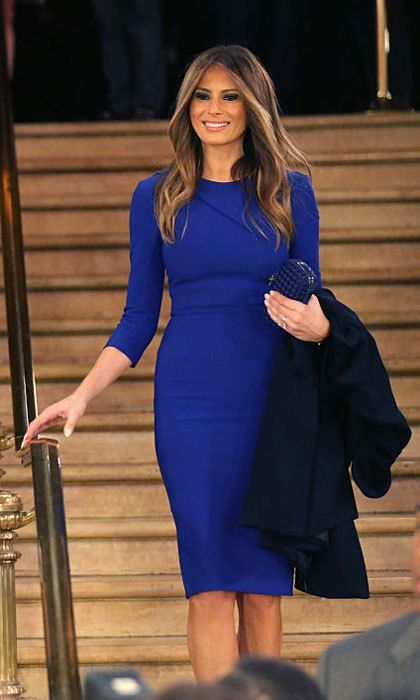 The First Lady Elect Looked Effortlessly Stylish In A Simple Blue Dress After March 2016 Debate Sponsored By Fox News Detroit
