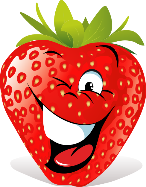 Search Terms Cartoon Face Food Fruit Strawberry Wink icon ...