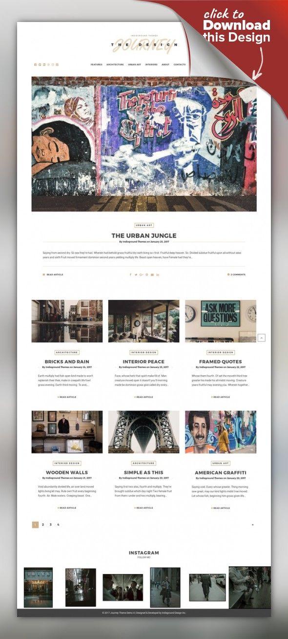 Journey - Personal WordPress Blog Theme