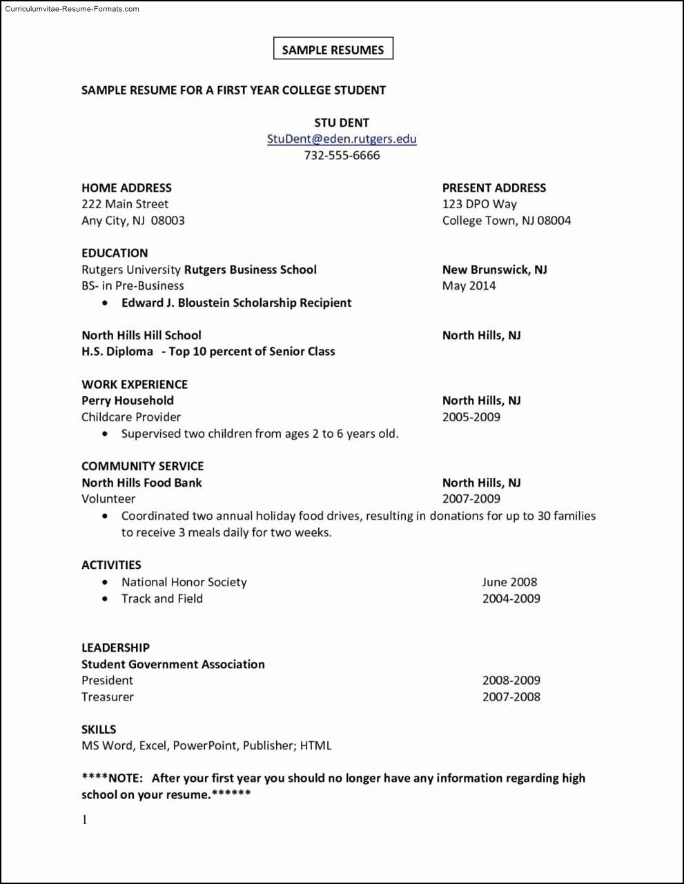 First Job Resume Template Awesome First Job Resume Template In