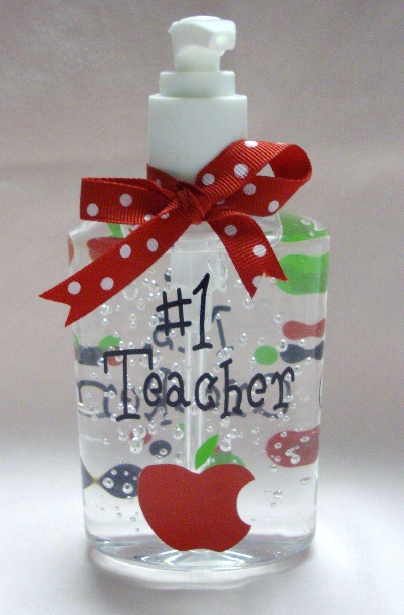 Vinyl Monogram Gifts Hand Sanitizer Teacher S Gift The Pink