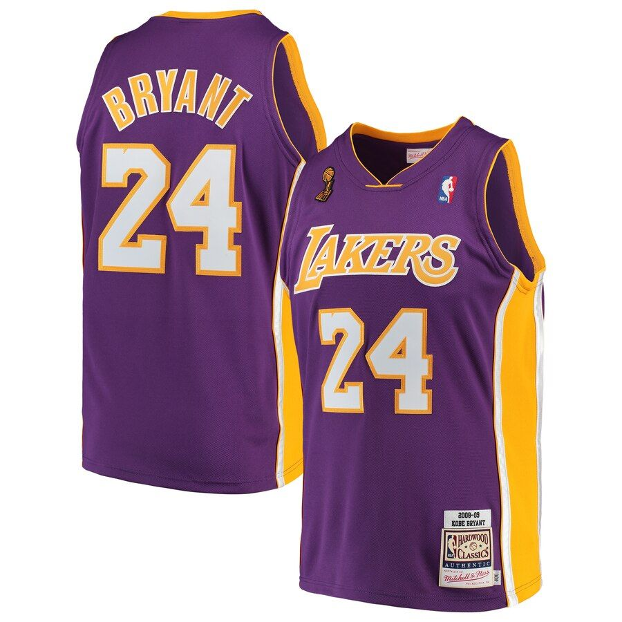 Kobe Bryant Los Angeles Lakers Mitchell Ness 2008 09 Hardwood Classics Authentic Jersey Purple In 2020 Kobe Bryant Los Angeles Lakers Lakers Kobe Bryant