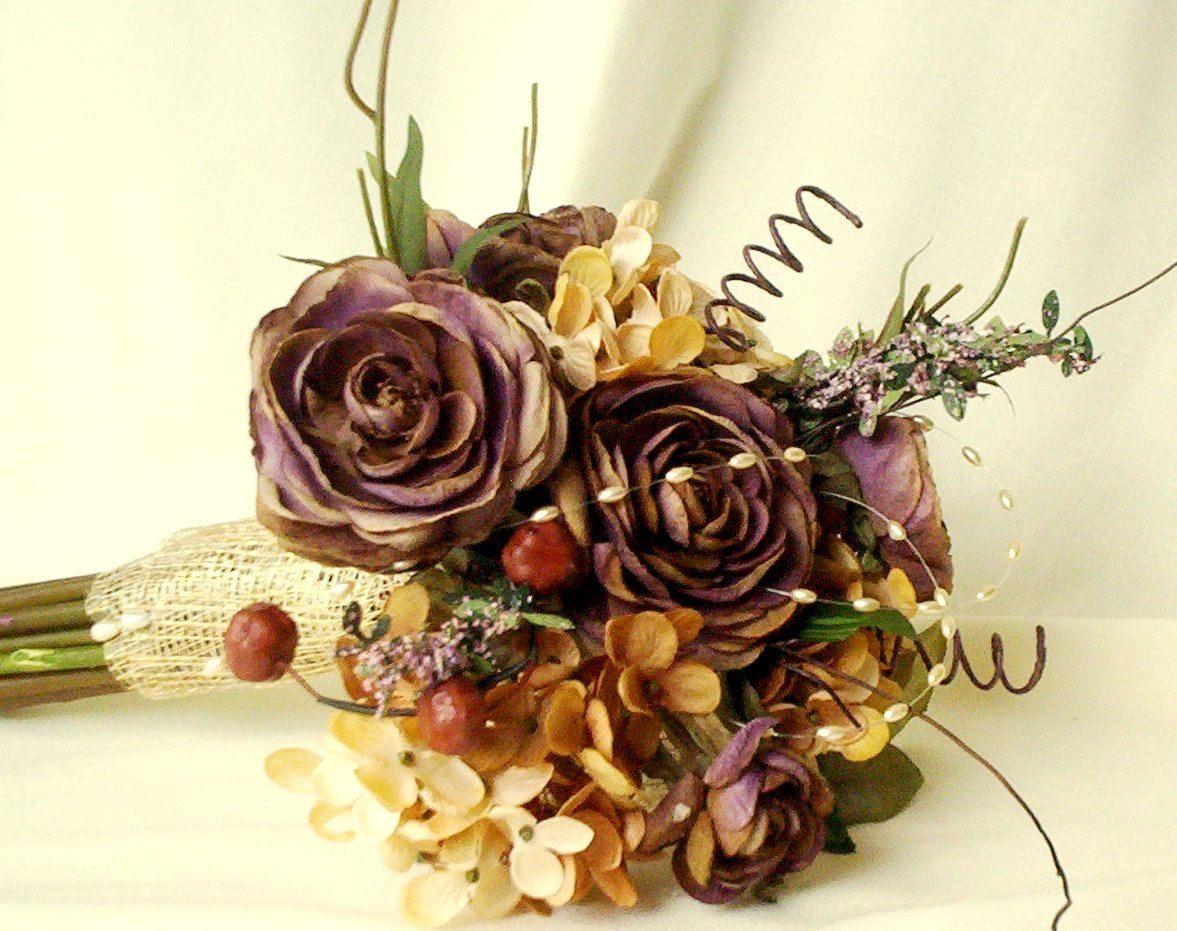 Ready To Ship Autumn Bridal Bouquet Woodland Wedding Accessories