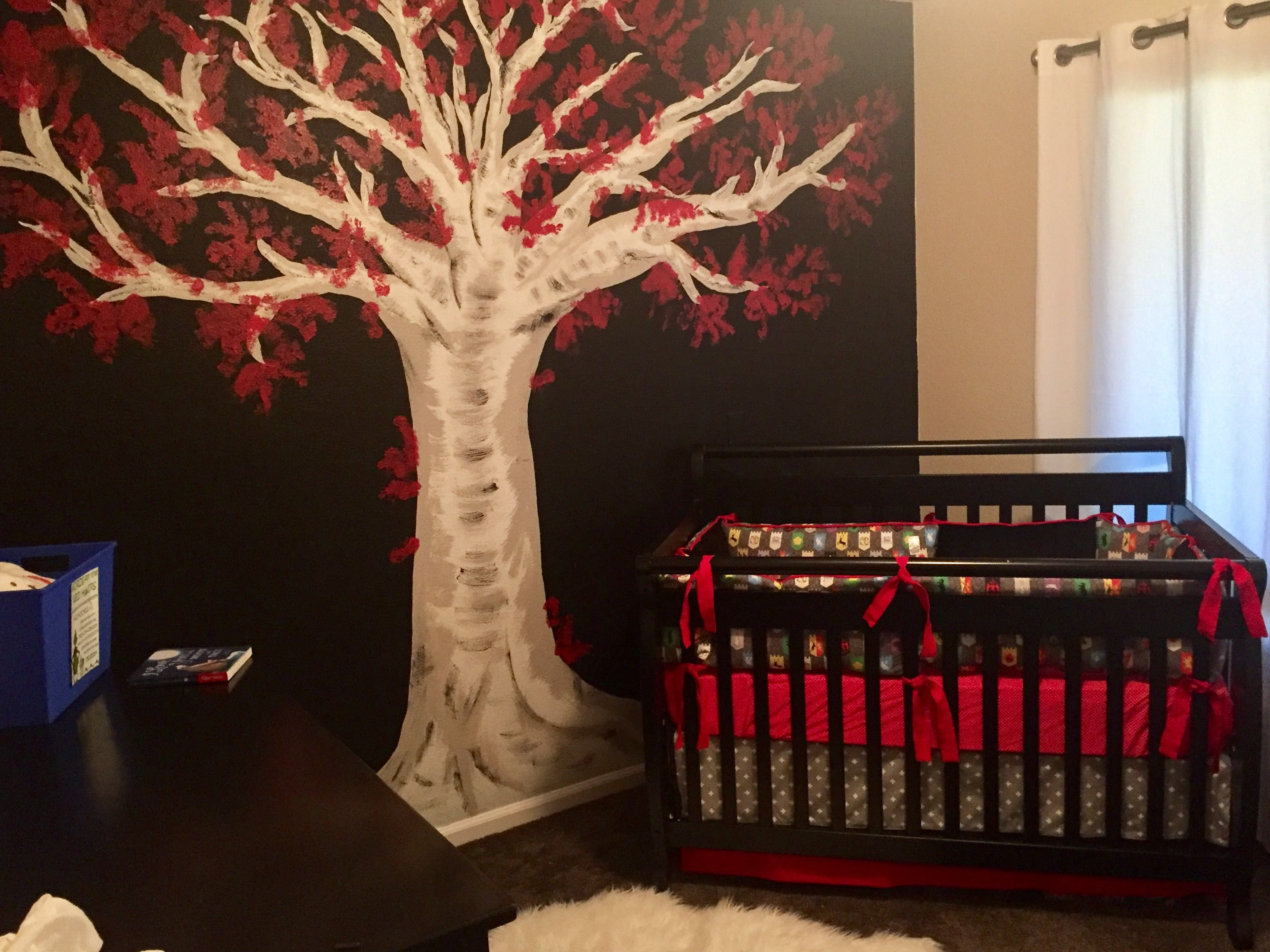 Of Thrones Nursery Crib Set The Baby Guy Oc House Sigils Print Spoonflower Weirwood Tree Mural Kid Friendly