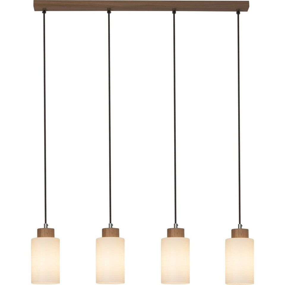 Brilliant Leuchten Nature Pendelleuchte 4flg eiche/weiß | Lampen ...