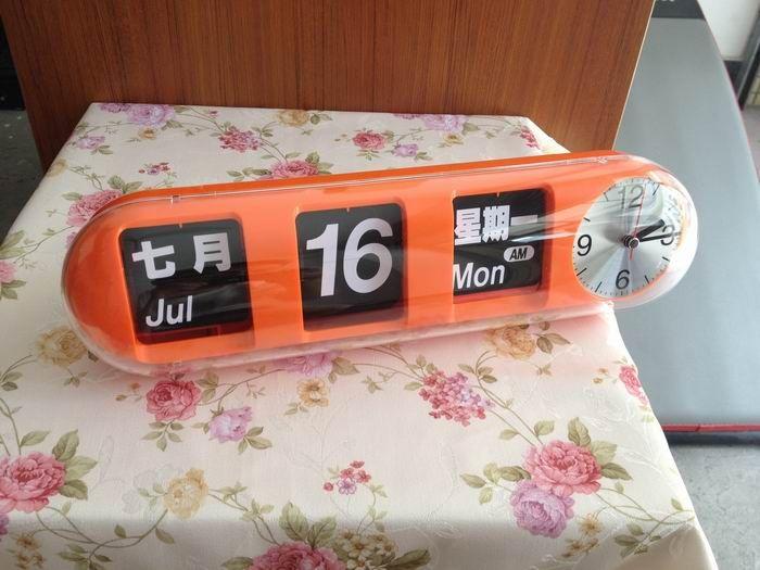 Wholesale - Auto calendar quartz clock Registered patent Automatic Dynamic Content Wall Clock Flip Clock #C003