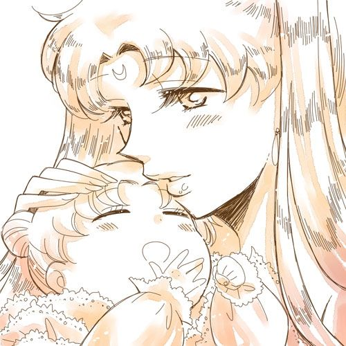 Sailor Moon And Her Mother, Queen Serenity
