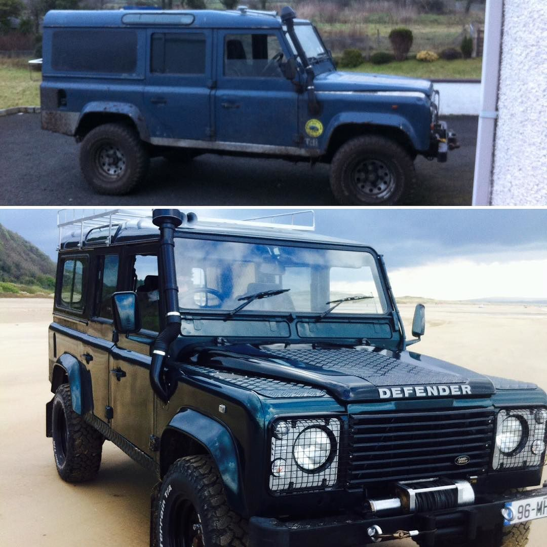 The Male Room On Instagram Before And After Defender Restoration By Philip Gallen Landy Landyboys Landrover Car Restoration Defender Land Rover Defender