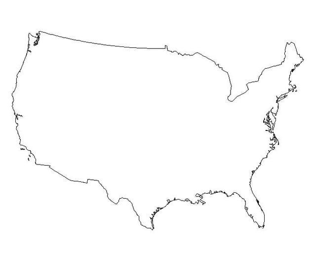 United States Of America USA Free Maps Free Blank Maps Free Free - Outline map of the us
