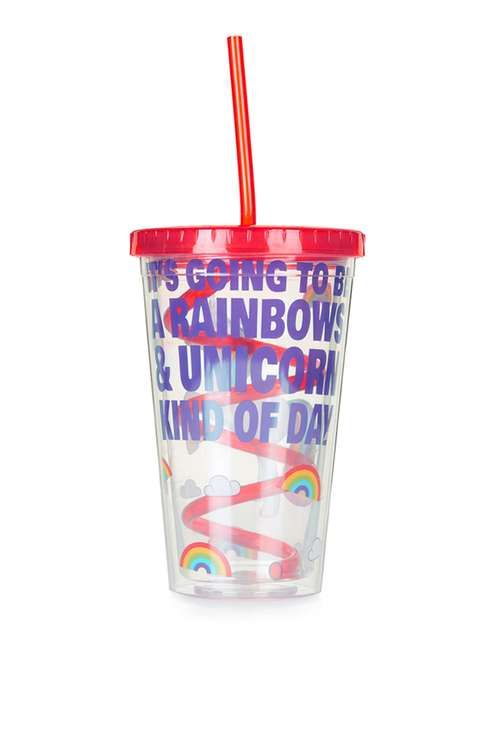 Unicorn Straw Cup - Topshop