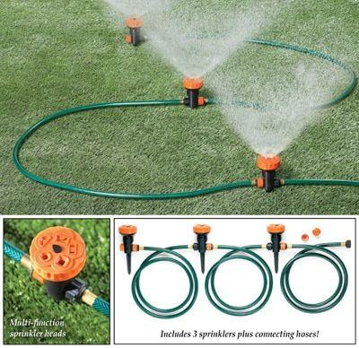 Portable Lawn Sprinkler System Set Of 3 Lawn Sprinkler System