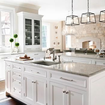 Kitchen With 2 Islands Traditional