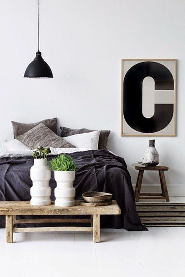 Relooking déco chambre en noir et blanc