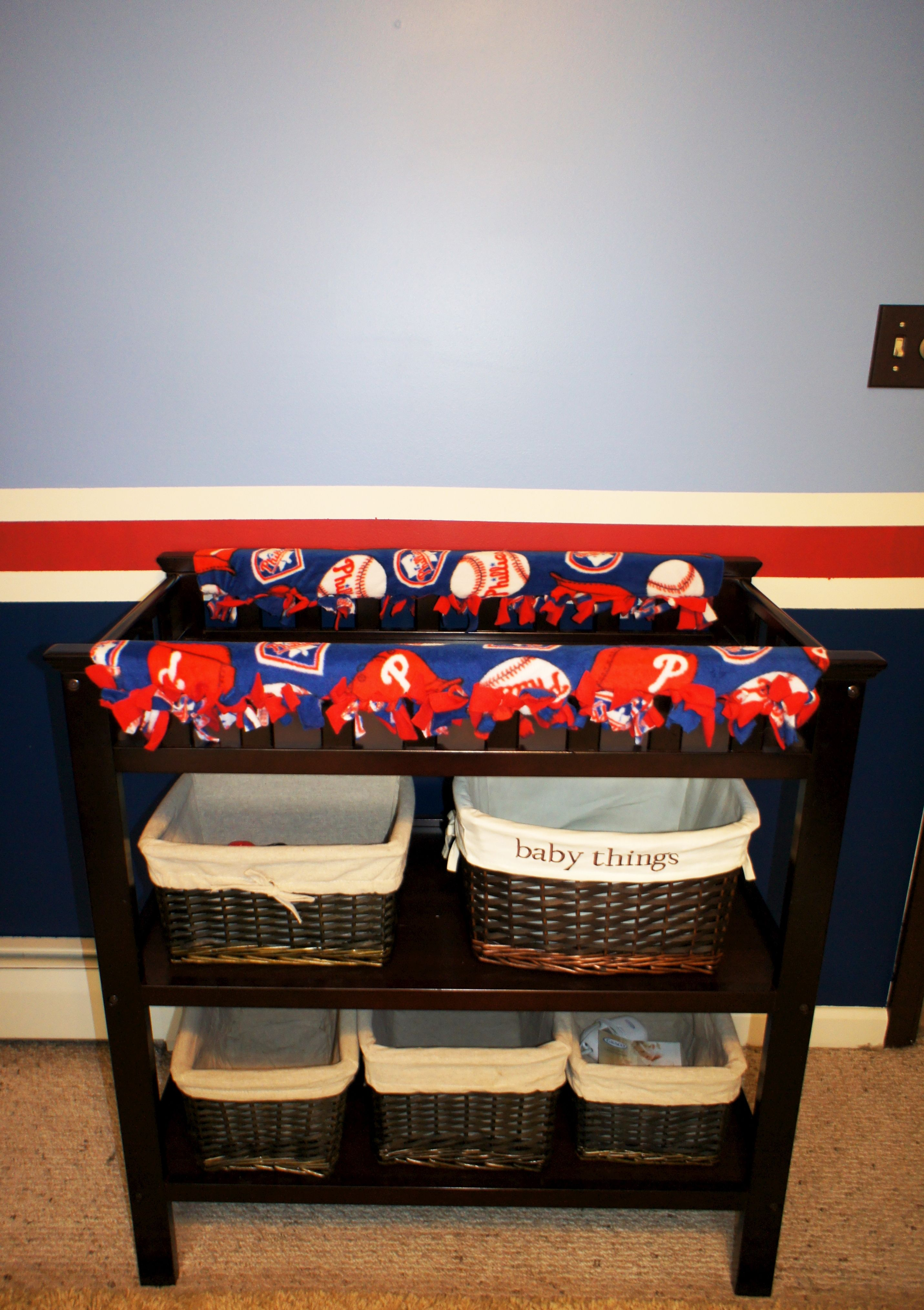 DIY changing table rail covers