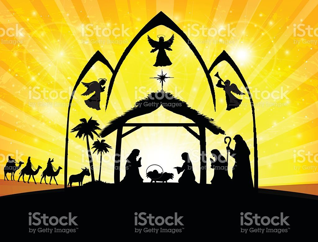 Nativity Scene. EPS 10. Free vector art, Vector art, Art