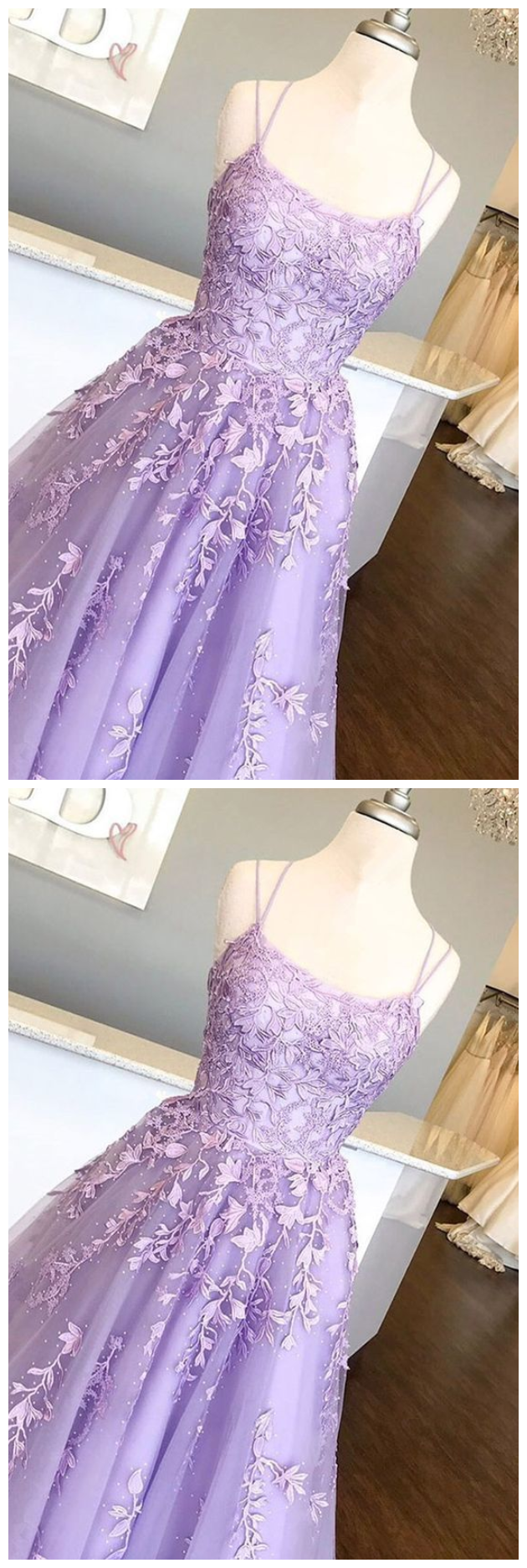 Lilac Prom Dresses With Appliques Long Princess Prom Dress Prom Dance Dress Formal Prom Dress Lilac Prom Dresses Prom Dresses Formal Dresses Prom [ 1874 x 630 Pixel ]
