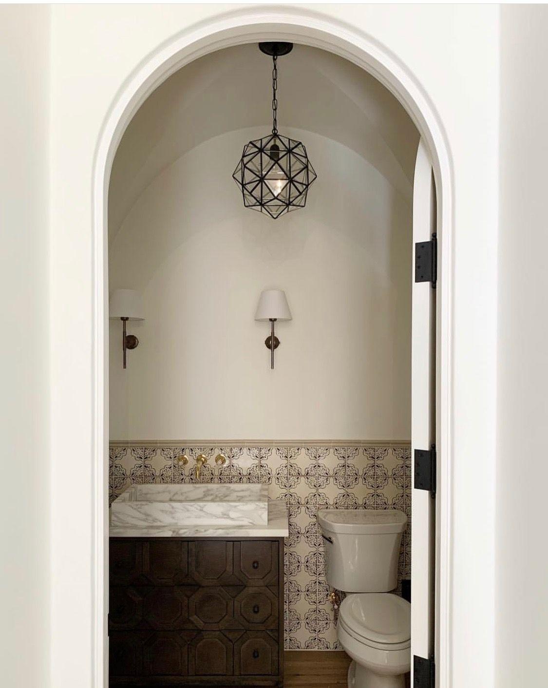 Pin By Mindy Surdacki On The Other Bathrooms Spanish Revival Bathroom Modern Spanish Decor