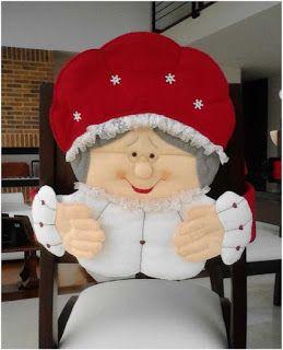 Cubre Sillas Navideños Moldes Y Videos Cubresillas Navideñas Forro De Sillas Navideñas Fundas Para Sillas Navidad